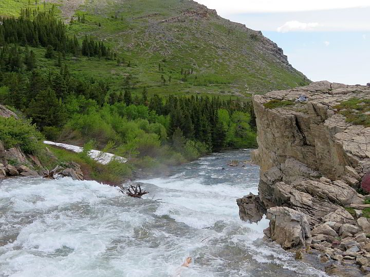 Swiftcurrent Creek in East Glacier