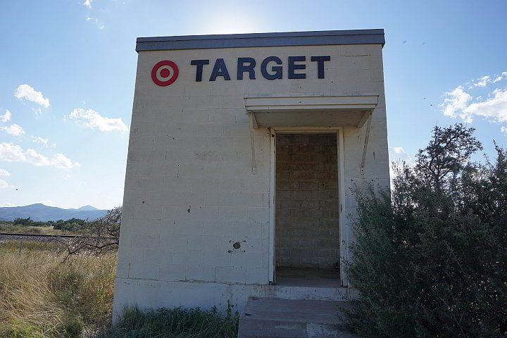Target Maraton art installation in west Texas