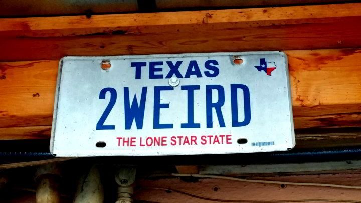 Texas license plate 2weird - The Lone Star State