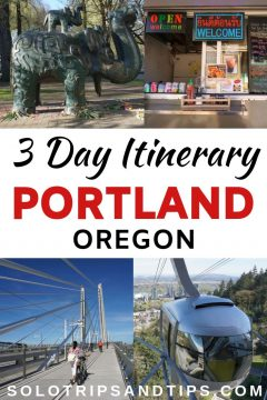 3 Day Itinerary Portland Oregon including Pearl District, food carts, Tilikum Bridge, and Portland Aerial Tram