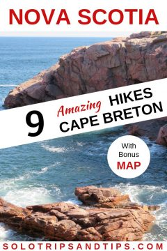 9 Amazing hikes in Cape Breton Nova Scotia with bonus map of all 9 hikes in the Cape Breton Highlands National Park Canada