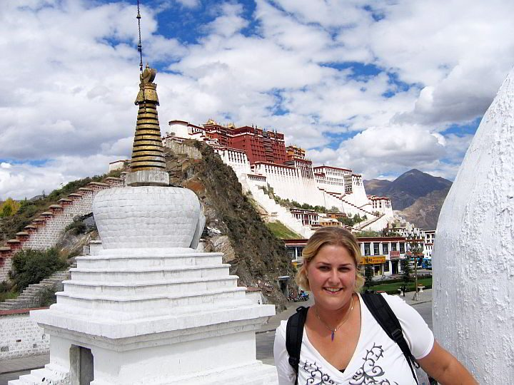 Solo female travel to Tibet - visitng Potala Palace in Lhasa Tibet