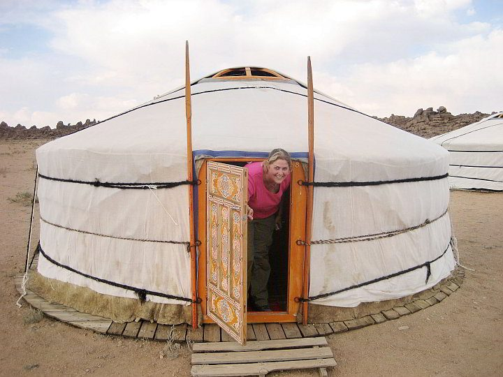 Yurt accommodation in Mongolia