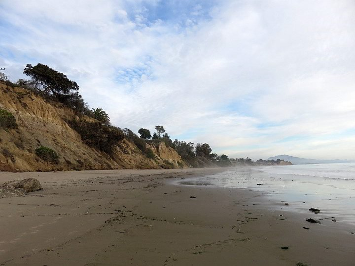 Summerland Beach is the most deserted beach around Carpinteria, due to an oil spill in 2015