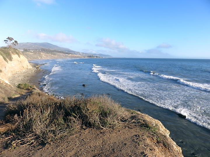 The lookout at Carpinteria Bluffs offers spectacular views of the California coastline