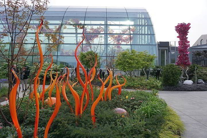 Visit Dale Chihuly Glass and Garden for amazing glass art and beautiful gardens
