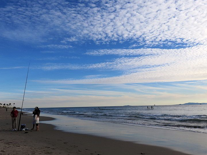 Fishing and surfing are popular pass times at the beaches in Carpinteria
