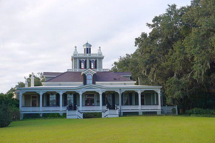 Joseph Jefferson Mansion at Rip Van Winkle Gardens in New Iberia Louisiana