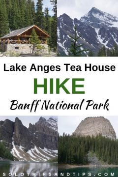 Hike to the Lake Agnes tea house in Lake Louise Banff NP Alberta