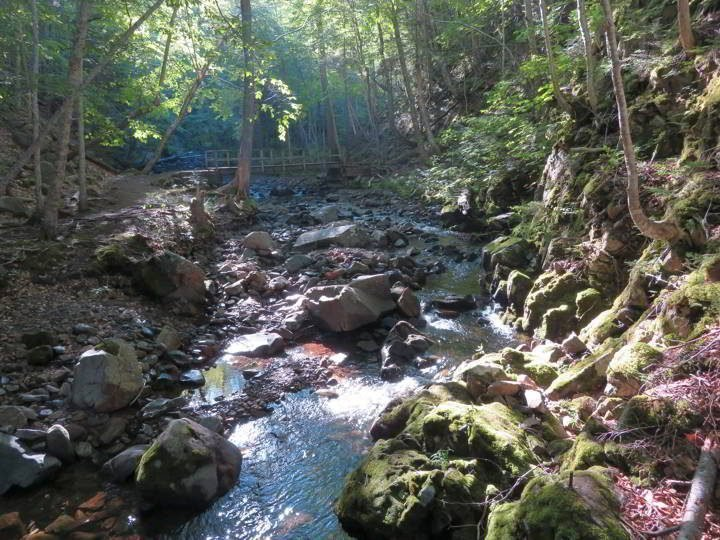 MacIntosh Brook hike along a babbling brook in Cape Breton Highlands
