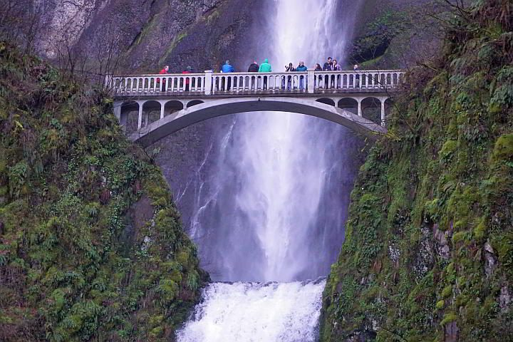 If you have 2 or 3 days in Portland go to Multnomah Falls and stand on Benson Bridge for spectacular views of the waterfall