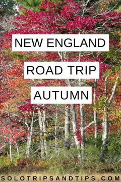 New England road trip in autumn for peak foliage time