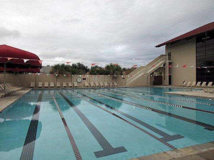 Outdoor laps swimming pool at Red's Gym in Lafayette Louisiana