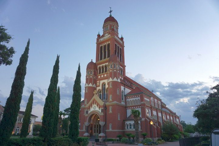 Cathedral of St John the Evangelist completed in 1916 in Lafayette Louisiana