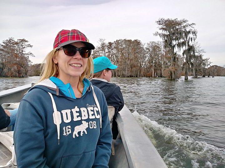 Foils enjoying the Swamp Tour at lake Martin Louisiana