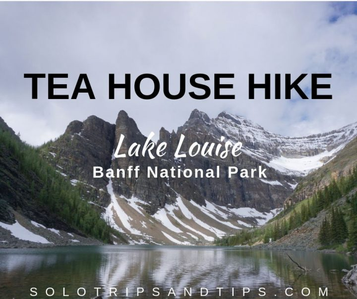 Summit at tea House hike at Lake Louise Banff National Park