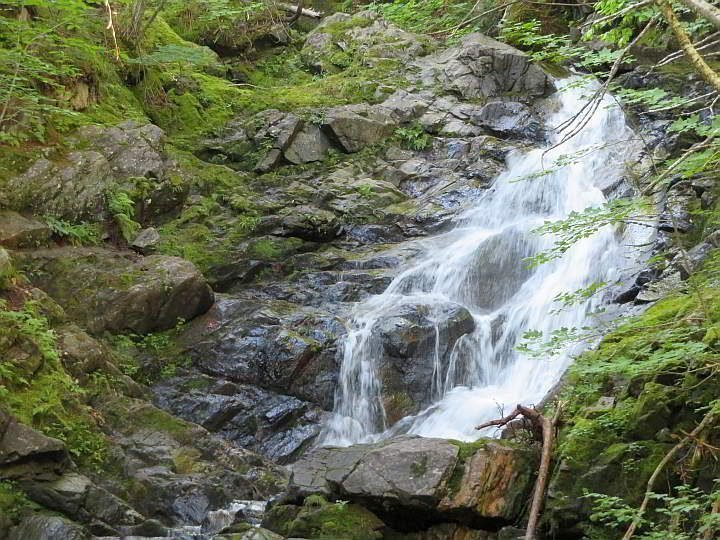 Cape Breton MacIntosh Brook trail features a pretty waterfall at the end