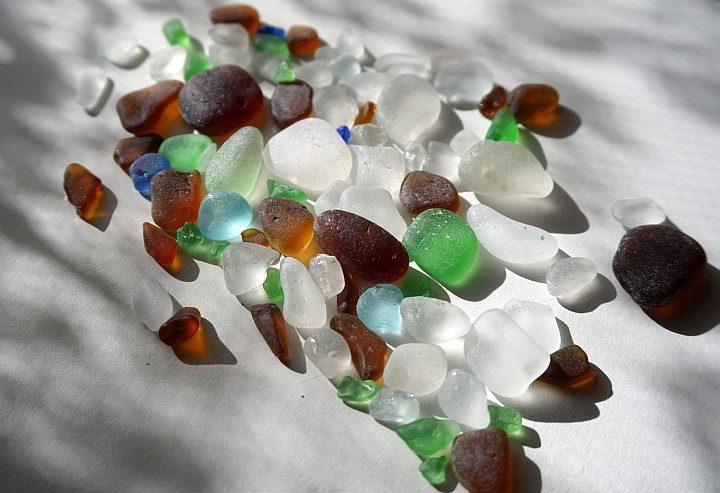 Beach glass from Port Townsend beaches