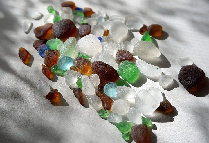Beach glass from Port Townsend beaches