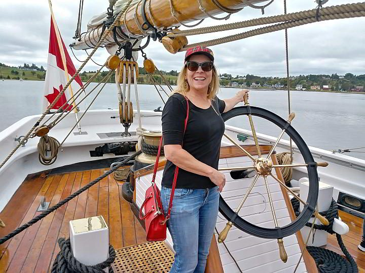 Blue Nose II in Nova Scotia open for tourists to walk aboard