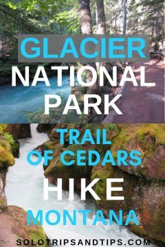 Glacier National Park Trail of Cedars Hike Montana