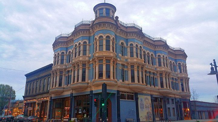 Hastings Building completed in 1890 in downtown Pt Townsend, a fine example of Victorian style architecture