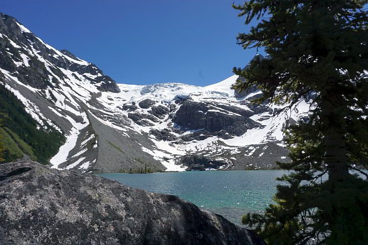 Upper Joffre Lake at Joffre Lakes Provincial Park in BC