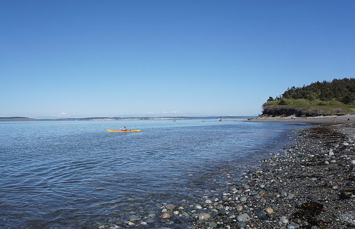 Kayaking from the beach in Port Townsend WA