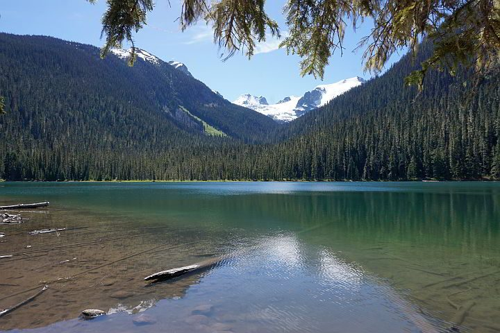 First of three lakes - Lower Joffre Lake is a glacier fed lake in BC