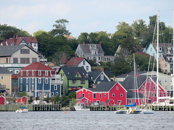 Lunenburg is a popular Nova Scotia road trip destination with its brightly painted historic buildings