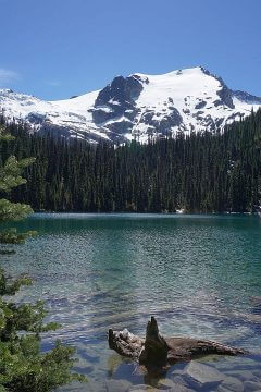 Middle Joffre Lake is the second of three gorgeous lakes in one hike