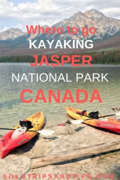Where to go kayaking in Jasper National Park Canada