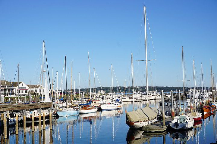 Boats in the harbor of Pt Townsend Washington