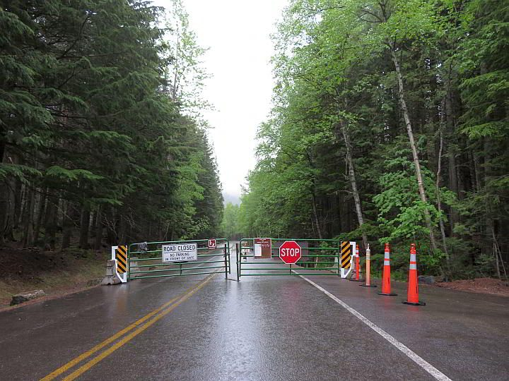 Going To The Sun Road closed to cars from Avalanche picnic area, but you could bicycle further on GTTSR