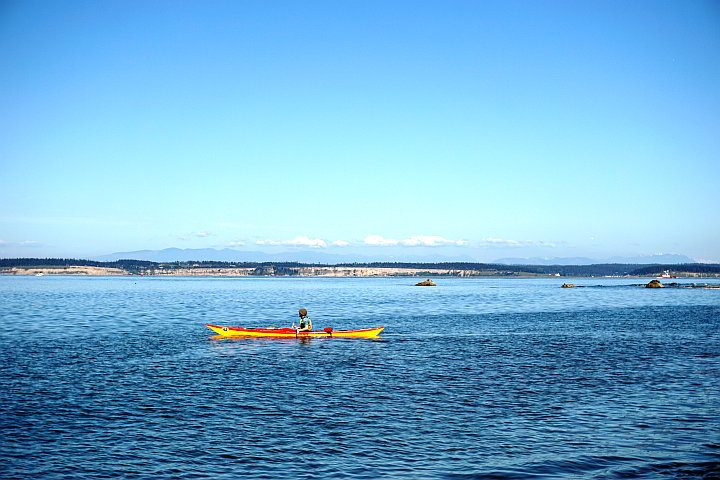Kayaking is a popular activity in Port Townsend and Puget Sound
