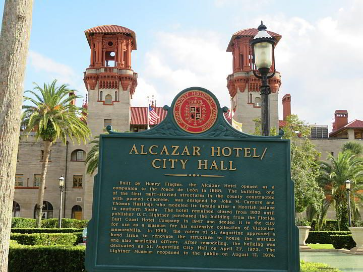 Built in 1888 Alcazar Hotel is now St Augustine City Hall and the Lightner Museum