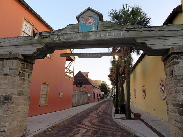 Aviles Street in historic St Augustine FL is the oldest street in America