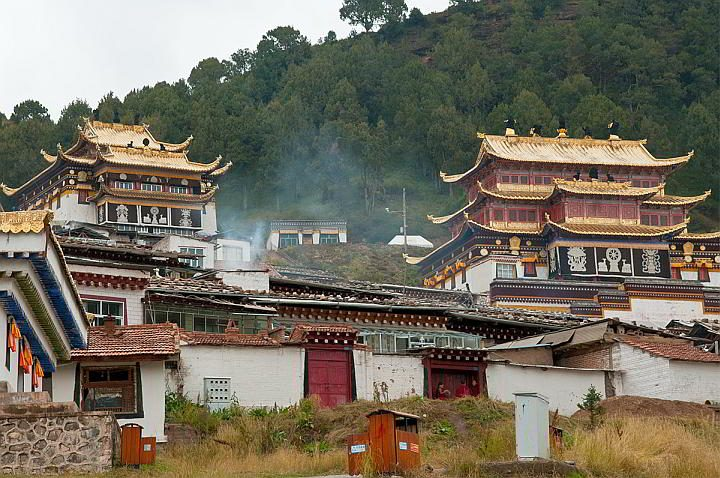 Langmusi Monastery located in the Tibetan Plateau region
