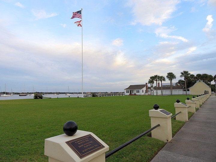 Memorial plaques St Francis Barracks St Augustine Florida