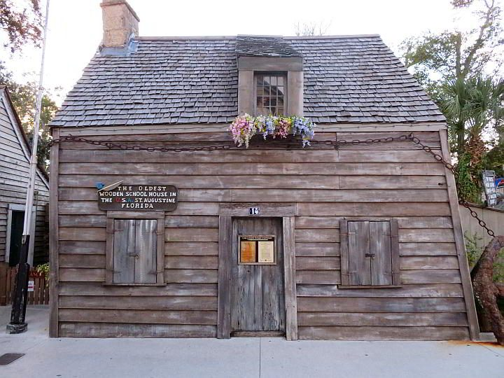 The oldest wooden schoolhouse in the United States is located in St Augustine on St George Street - it opened in 1702