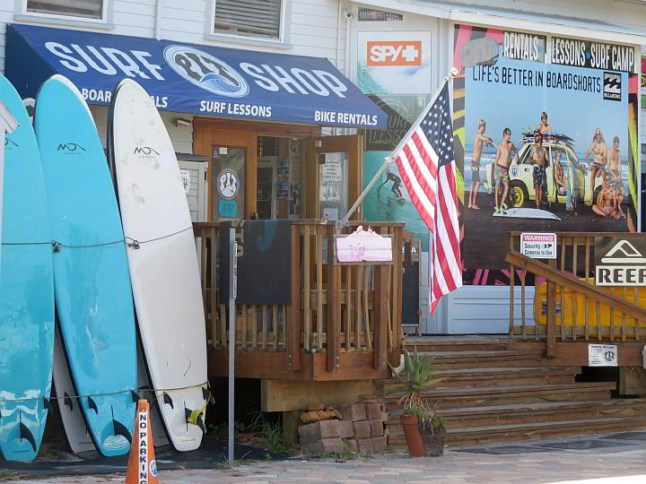 Visit Pit Surf Shop near the beach in St Augustine for surfing lessons and board rentals