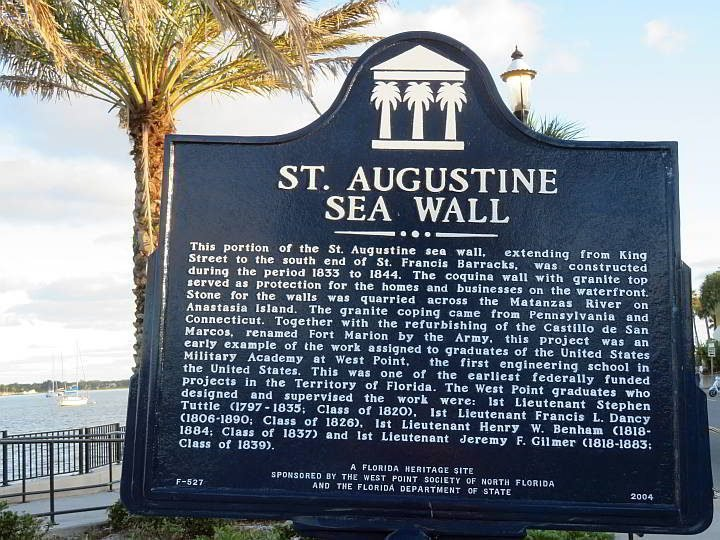 St Augustine Sea Wall coquina stone info