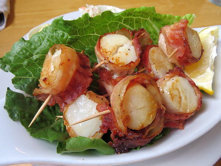 Bacon Wrapped Scallops at JB's Steak and Seafood Restaurant in Barrington NS South Shore region