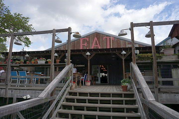 Little Big Cup restaurant deck Arnaudville LA