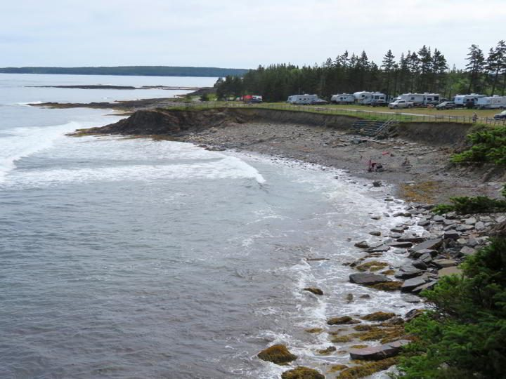 RV Park on the coast at Ovens Natural Park Nova Scotia