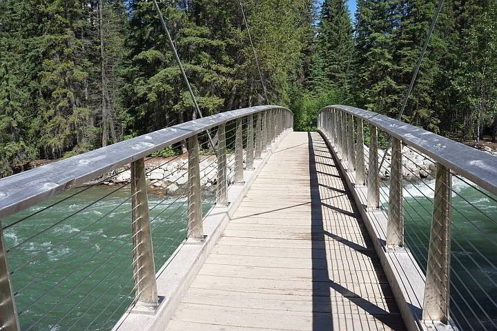 5th bridge at Maligne Canyon Jasper