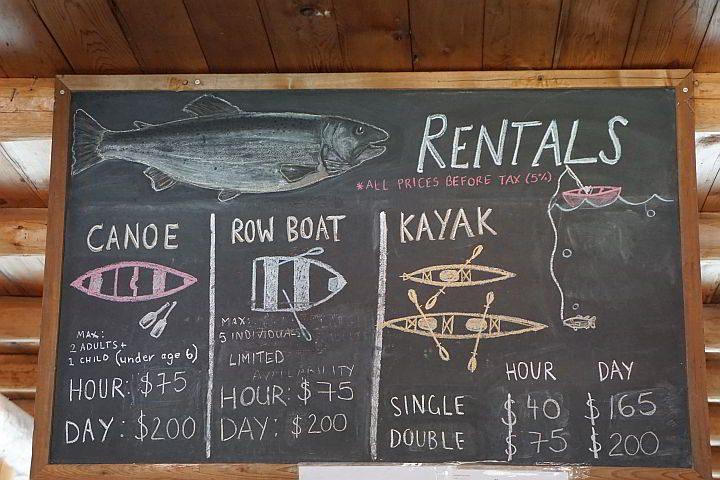 Maligne Canyon boat rental rates