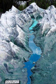 Model of Maligne Lake Jasper National Park