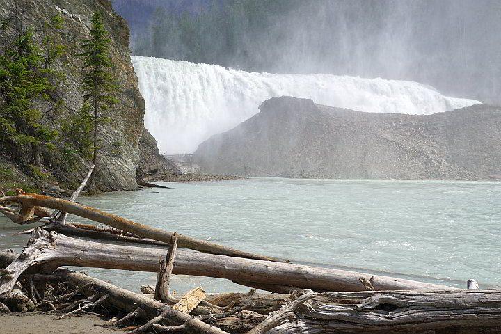 Beautiful Wapta waterfall Yoho park Canada