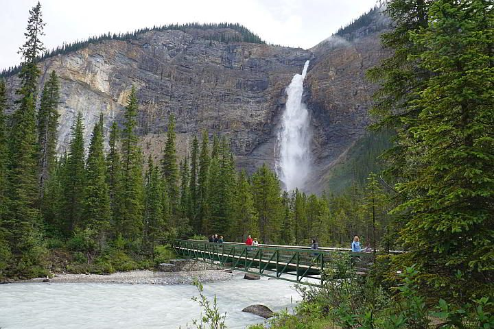 Bridge over Yoho River at Takakkaw Falls BC